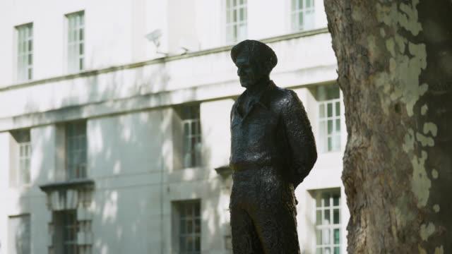 ms statue of field marshal bernard montgomery - british culture stock videos & royalty-free footage