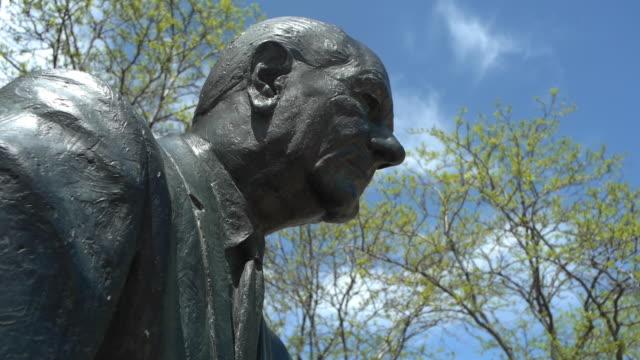 statue of former american president lyndon b. johnson. - rapid city stock videos & royalty-free footage