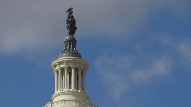 statue of freedom atop the capitol building in dc - architectural dome stock videos & royalty-free footage