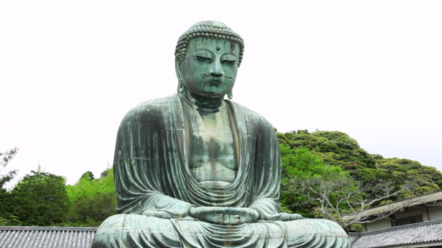 ms statue of great buddha daibutsu / kamakura, kanagawa, japan - figura maschile video stock e b–roll
