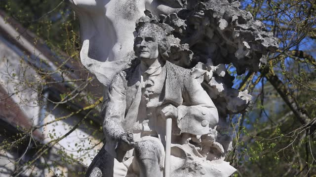 statue of jean jacques rousseau near the jean jacques rousseau park on a sunny spring day on april 22, 2021 in ermenonville, france. this picturesque... - daydreaming stock videos & royalty-free footage