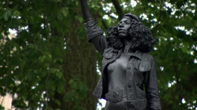 statue of jen reid, a black lives matter protester, erected in the space where the edward colston statue once stood before it was torn down during... - standing stock videos & royalty-free footage