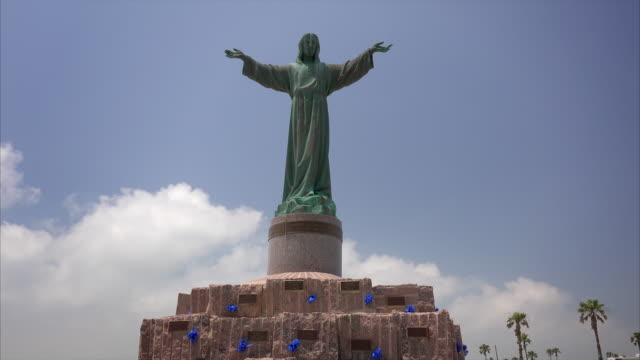 Statue of Jesus Christ and Memorial at Isla Blanco Park on South Padre Island