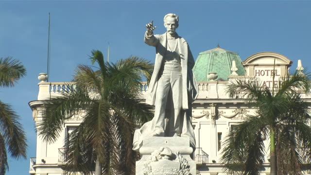MS Statue of José Marti in front of Hotel Inglaterra / Havana City, Havana, Cuba