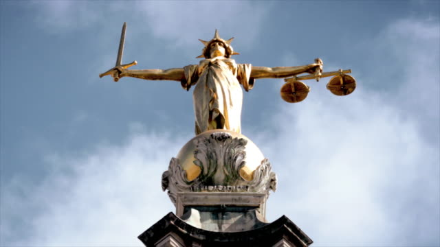 statue of justice - court stock videos & royalty-free footage