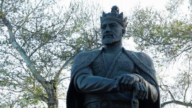statue of king amur timur - effigy stock videos & royalty-free footage