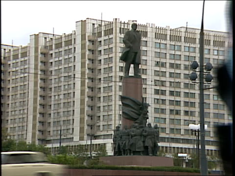 Statue of Lenin in Large Square in Moscow