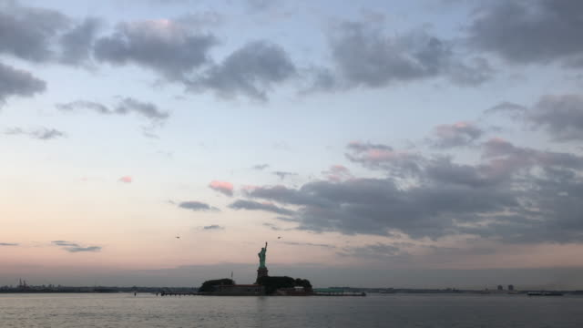 Statue of Liberty and helicopter