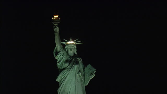 statue of liberty at night - statue of liberty stock videos and b-roll footage