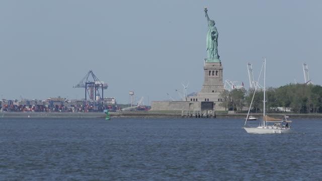 Statue of Liberty from Manhattan, Manhattan, New York City, New York, USA, North America