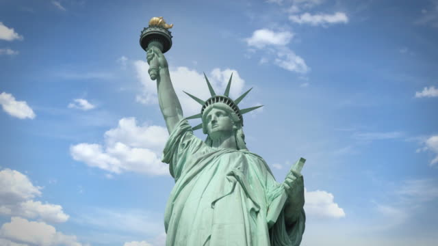 statue of liberty, new york city - emigration and immigration stock videos & royalty-free footage