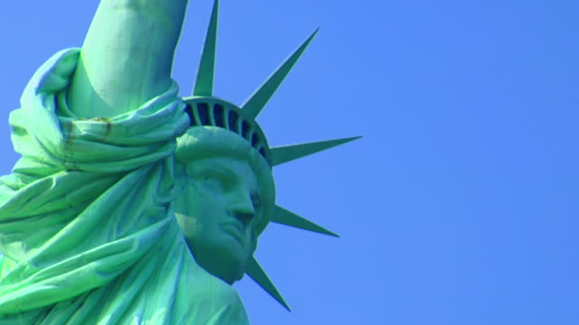 statue of liberty. nyc - female likeness stock videos & royalty-free footage