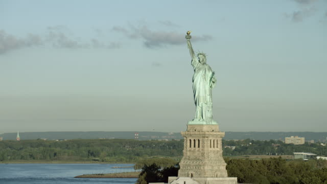 statue of liberty on liberty island ny - statue of liberty new york city stock videos and b-roll footage