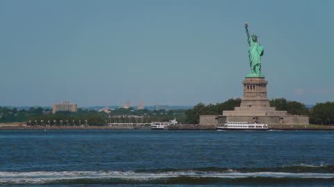 statue of liberty right - statue of liberty new york city stock videos & royalty-free footage