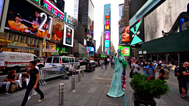 statue of liberty. time square - statue of liberty new york city stock videos & royalty-free footage