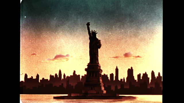 statue of liberty - statue of liberty new york city stock-videos und b-roll-filmmaterial