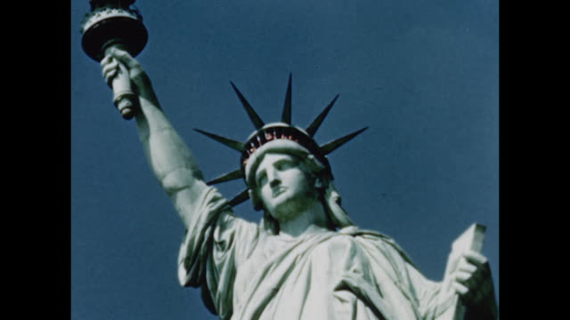 1948 statue of liberty - statue of liberty new york city stock videos & royalty-free footage