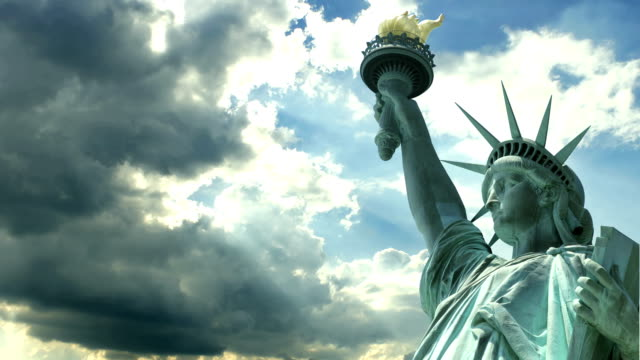 statue of liberty - statue stock videos & royalty-free footage