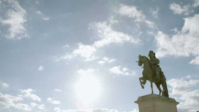 statue of louis xiv in versailles / paris, france - statue stock videos & royalty-free footage