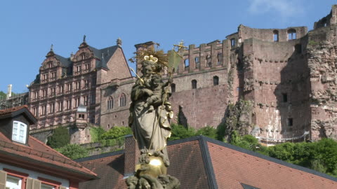ms statue of mother marry / heidelberg, baden-wuerttemberg, germany - female likeness stock videos & royalty-free footage