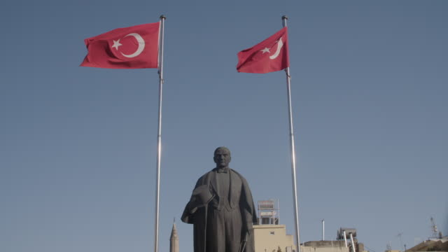 Statue of Mustafa Kemal Ataturk founder of Turkey