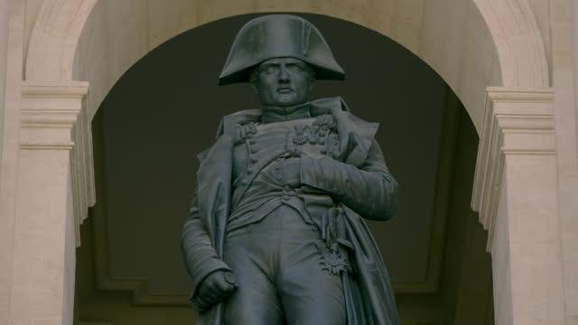 statue of napoleon bonaparte at the musée de l'armée, france - male likeness stock videos & royalty-free footage