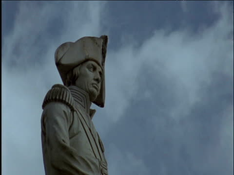 statue of nelson on nelson's column - nelson's column stock videos & royalty-free footage