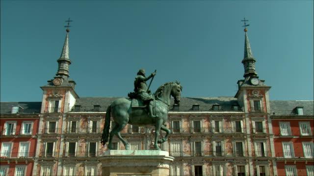 WS LA ZI Statue of Philip III on horseback, Plaza Mayor, Madrid, Spain