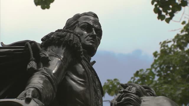 CU ZO WS LA Statue of Simon Bolivar on horse in Plaza Bolivar / Metropolitan District of Caracas, Miranda, Venezuela