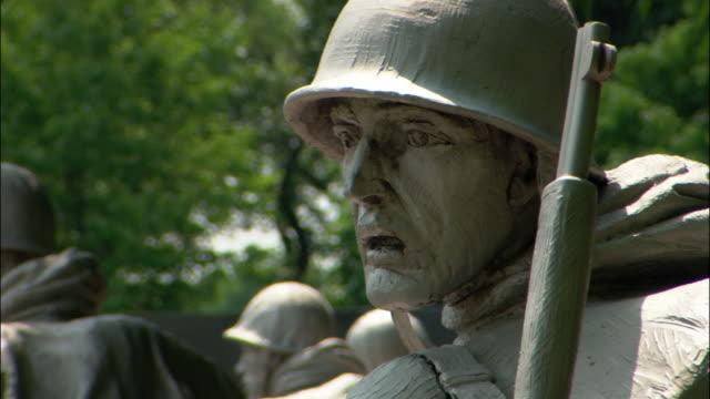 CU statue of soldier in Korean War Veterans Memorial, Washington DC, USA