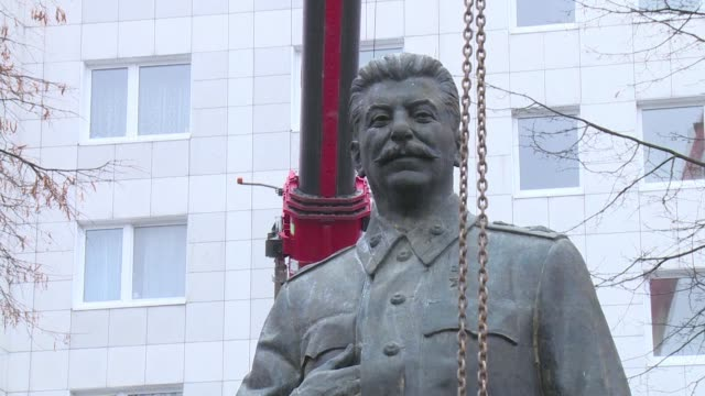 A statue of Stalin briefly appeared on the KarlMarxAllee in Berlin before being transported to the former Stasi prison in Berlin Hohenschönhausen