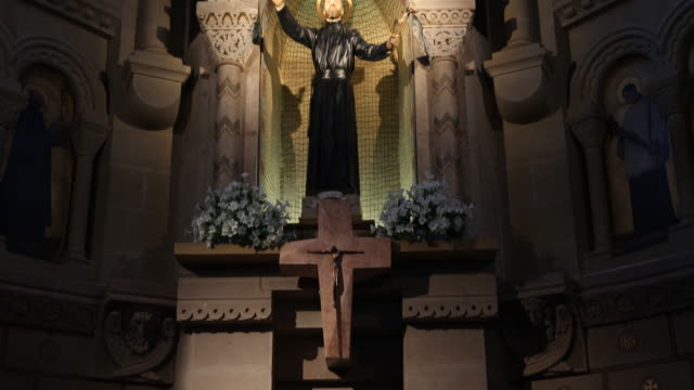 statue of the saint francis xavier in the chapel of the castle of xavier , on which the saint francisco de xavier was born on 7.4.1506. francis... - missionary stock videos & royalty-free footage