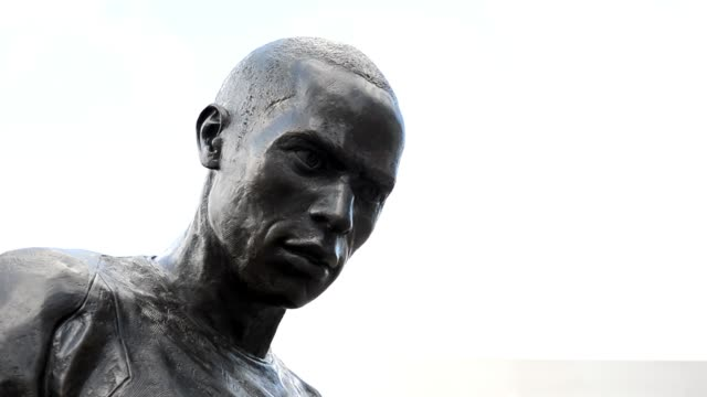 Statue of Thierry Henry at The Emirates Stadium home to Arsenal Football Club in north London February 7 2013 General View Of Arsenal's Emirates...