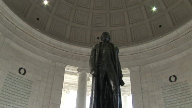 la, zi, cu, statue of thomas jefferson in jefferson memorial, washington dc, washington, usa - thomas jefferson stock videos & royalty-free footage