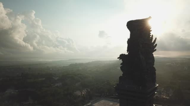 statue of vishnu in garuda wisnu kencana cultural park / bali, indonesia - bali stock videos & royalty-free footage