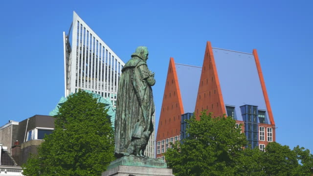 ms statue of william silent in city / den haag, south holland, netherlands - the hague stock videos and b-roll footage