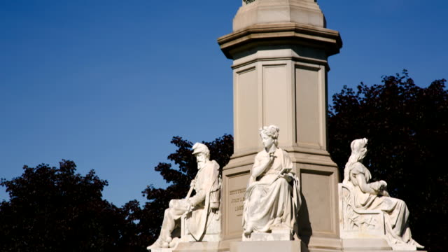 lincoln statue, die dem gettysburg address - gettysburg stock-videos und b-roll-filmmaterial