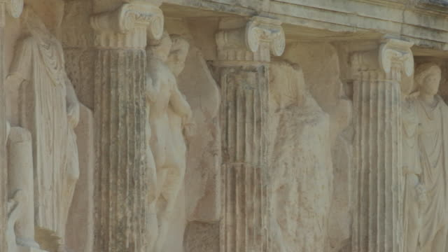 statues in a temple, aphrodisias, turkey - ancient greece stock videos & royalty-free footage