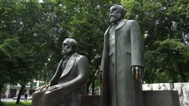 Statues of Karl Marx and Friedrich Engels, Marx-Engels-Forum, Berlin, Germany