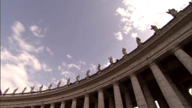 statues top st. peter's basilica in vatican city. - state of the vatican city stock videos & royalty-free footage