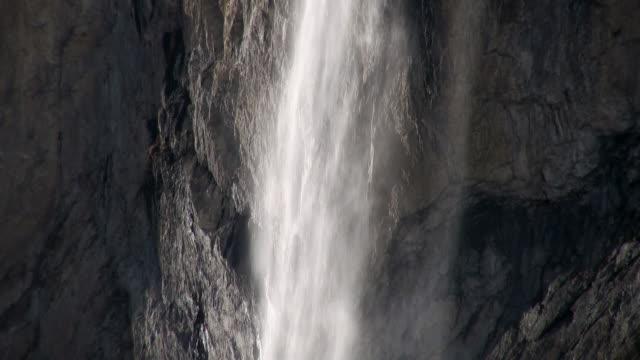 CU Staubbach waterfall at bernese alps / Lauterbrunnen, Bernese Oberland, Switzerlan