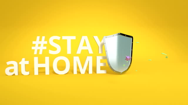 vídeos de stock, filmes e b-roll de stay at home vídeo hd - vinheta