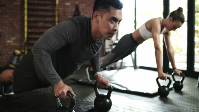 stay focused, stay fit - kettlebell stock videos & royalty-free footage