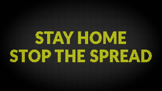 stay home warning road sign - road warning sign stock videos & royalty-free footage