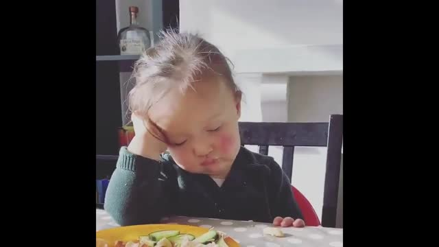 staying awake through the day's lunchtime slump can be hard, and for a 23-month-old girl living in southwest england, the task seemed almost... - lunch stock videos & royalty-free footage