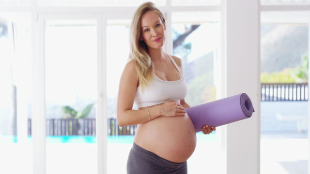 staying healthy for the baby - exercise room stock videos & royalty-free footage