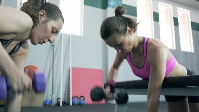 vídeos de stock, filmes e b-roll de ficar em um corpo perfeito. - aparelho de musculação