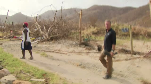vidéos et rushes de staying with hurricane irma and residents on one of the caribbean islands devastated by the storm have likened the situation there to 'armageddon'... - démoli
