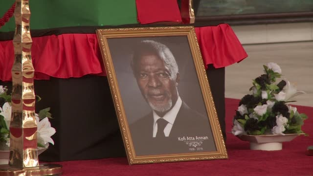 A steady stream of mourners pay their respects to the former UN Secretary General Kofi Annan as his body lies in state in the capital of his native...