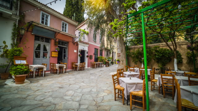 steadycam: athens plaka district in greece - stabilized shot stock videos & royalty-free footage